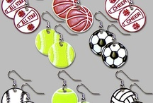 Custom 3D PVC earrings made in the USA / Bring us your idea and art and we can create your perfect earring....or chose from our stock sports earrings.
