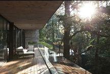 Home: Exteriors / External views of homes/houses/villas, patios, backyards, balconies, terraces, external doors, windows, entrances, hallways, pools, doorsteps, table settings, gardens, planters, ligthing
