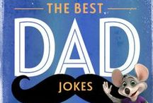 "The Best Dad Jokes / We're celebrating Dads and the laughs that they bring to our lives with some good old fashioned ""Dad Jokes.""   / by Chuck E. Cheese"