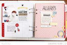 Scrapbooking / Scrapbooking inspirations, modern scrapbook layouts