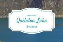 Quilotoa Lake, Ecuador.
