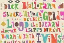 Tipografía:: / Mix de tipografías! Diseño tipográfico.