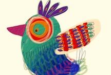 Pajarracos:: / Ilustraciones de pájaros...