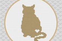 Cat cross stitch for Puck / by Joanna Hurley