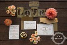 Creative Wedding Invitation Designs- Custom Work / Rustic, vintage, custom and creative wedding invitations from Lasso'd Moon, http://vermontweddinginvitations.com / by Carey @ Addie & George