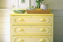 Furniture ideas / Lots of ideas and inspiration for unique furniture.  Lots of DIY painted and upcycled bits and bobs for an interesting and colourful home!