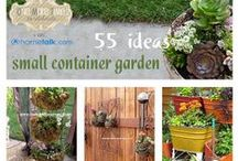 Garden - Container gardening / Last year my brother Peter brought me two big pots planted for a complete garden salad. One of the best presents ever! This year I will replant the pots myself so here's the place for tips and ideas.