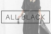 ALL BLACK OUTFITS / All black everything outfits and all black looks and clothes ideas.