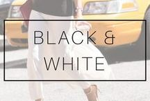 BLACK & WHITE OUTFITS / Black + white clothes. Black white outfits ideas. Only black and white outfits inspiration and looks. How to style and wear black and white clothes and different combinations
