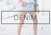 DENIM OUTFITS / Denim skirt and jacket outfits. Denim on denim jeans and jackets, outfits ideas and inspiration