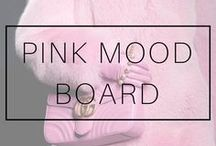 MOOD BOARD: PINK / Pink mood board! Pink mood board fashion. Mood board inspiration. Mood board pastel pink. Baby pink, millenial pink, light pink.