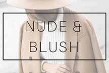 BLUSH & NUDE OUTFITS / Blush, beige and nude outfits and clothes.