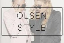 OLSEN TWINS / Olsen twins style. Olsen twins hair. Mary Kate Olsen and Ashley Olsen street style looks. Elizabeth and James and the Row outfits. Mary Kate and Ashley Olsen hairstyles