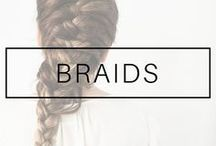 BRAIDS HAIRSTYLES / Braids for medium length, long and short hair. Braids hairstyles and tutorials. French braids, fish tail braids, dutch braids, side braids. Hairdo ideas and inspiration with braids