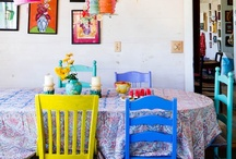 Painted Furniture / UGH! It's such a pain to apint old things.... I better make sure I paint it a color I love. These ideas should help me get it right the first try. / by Chrissy Nowak