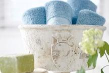 Bathrooms~Powder Rooms / by Wanda Crossley  Matthews House & Garden