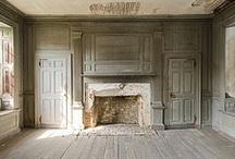 Bookcases~Built-In~Paneling / by Wanda Crossley  Matthews House & Garden