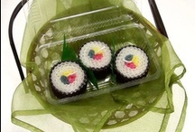 Handmade Sushi Gift Ideas / Sushi Gifts for all ages! Handmade sushi themed products for the sushi lover you know, including yourself! #sushi #sushigifts #sushigiftideas #handmade www.DoubleBrush.com