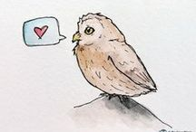 Art | Birds / Illustrations, sketches, and artwork featuring birds as the main subject matter