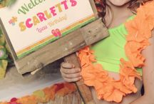 Scarlett is 7! Her Hawaiian Luau / A fantastic fresh party for a cute 7 year old made with lots of vibrant colours, patience and attention to details! www.jacindalouw-schutte.com #jloschutte