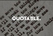 Quotable.