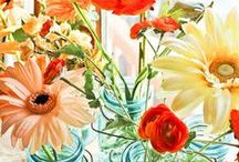 Flower Arranging / These pics are a compilation of beautiful garden arrangements which bring color and texture to indoor and outdoor spaces. / by Debbie Gilbert