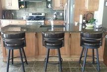 "Kitchen Stools / Kitchen stools in 24"" 25"" 26"" 30"" and 34"".  Made by amisco and Holland bar stools"