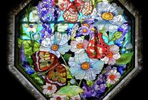 Stain glass and mosaics / by Carolyn Conner