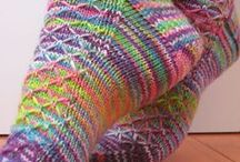 Crochet or knit socks, slippers and leg warmers 2 / by Pia Kavén-Bailey