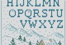 cross stitch alphabet- numbers free font