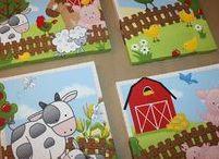 Baby Farm Animal Nursery Decor