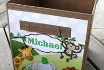 Jungle Animals Baby Nursery Decor / Cute jungle animals art and décor for kids.