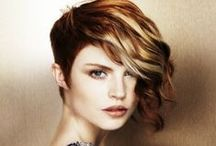 Hair / Short funky hair styles & cool color / by Renay R