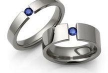 Wedding bands / Men's titanium wedding rings are perfect for those who play sports, are very physically active or have an occupation where they use their hands. Men have long desired a wedding band that is constructed of a metal that wouldn't easily bend or show signs of daily wear. Enter the tough, beautiful titanium wedding ring. It's a new day for men's wedding bands.