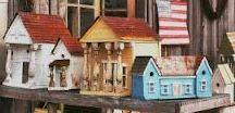 Dollhouses Vintage / 1. Twentieth century homemade, primitive and folk art dollhouses. 2. Modest commercial dollshouses from tin, cardboard and wood.