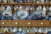 Blue & White China / I love Blue & White china and have collected quite a bit, love the way these ones are displayed.