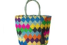 Our Totes / Yes, we make totes, too! 100% handwoven, 100% toquilla straw.
