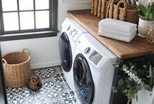 Laundry Room / home decor // laundry room inspiration