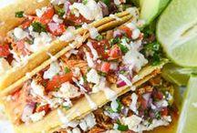 Tacos & Nachos / Taco Recipes and Nacho Recipes {tacos, taco salad, taco soup, nachos}