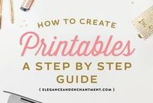 DIY || Printables & FONTS / All things DIY with creating printable, yummy papery things!  Freebies, good finds, #fonts, templates, layouts, blog helps, inspiration, typography, design, etc...  Also lots of pins from my obsession with beautiful FONTS!!!