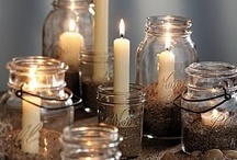 Mason jars  / Mason jars can be used in so many ways, there is never any need to throw one out! Try some of these ideas. / by Jackie Haddad
