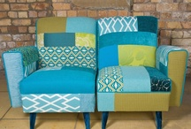 Patchwork Upholstery / My two main interests in sewing are home-dec and quilting, so why not combine them? Using patchwork in upholstery, slipcovers, and pillows is a fun way to play with color, pattern, and texture for home decor.