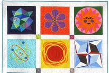 Atomic Starbursts / I love mid-century modern starbursts, and they translate beautifully into quilt blocks!