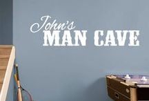 Man Cave Decals / Have a man cave you want to decorate or spice up? Does your husband have an area in the house that is just for him? These decals are perfect for an office, basement, bathroom, garage, shop or wherever his domain is found. These man cave wall decals were designed specifically for the male species and his interests. They can also be used outside on a vehicle, sign, or shop entrance.