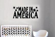 Patriotic Decals / Show your patriotism with decorative decals declaring your American pride. Handled with care, our patriotic wall decals collection is for the love of our country and the men and women who proudly serve it. Available in many colors and size, you are sure to find a one of a kind decal for your space.