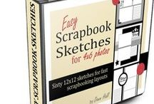 Scrapbook Sketches / Scrapbook sketches are the secret ingredient for putting together eye-catching layouts quickly!