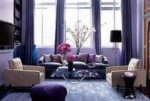 Purple Decor / Purple rooms, wall decor and more, characterized by cheerful, vibrant color.