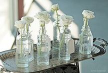 Rustic Vintage ~ Shabby Chic / Decorating ideas for Depression Glass, vintage bottles, hobnail glass, mercury glass and retro glass candle holders. (Please note: Pins on this board show products from Luna Bazaar as well as the products of other companies.) / by Luna Bazaar