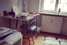 Studio Shots / A sneak peek of my studio and works in progress. This is where the magic happens!