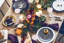 Thanksgiving Inspiration / Festive decorating ideas and delicious recipes for hosting a magical Thanksgiving dinner.